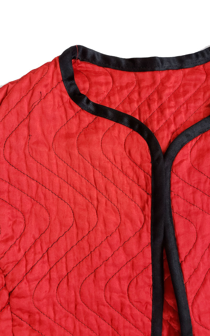 Vintage Women's Red Quilted Jacket