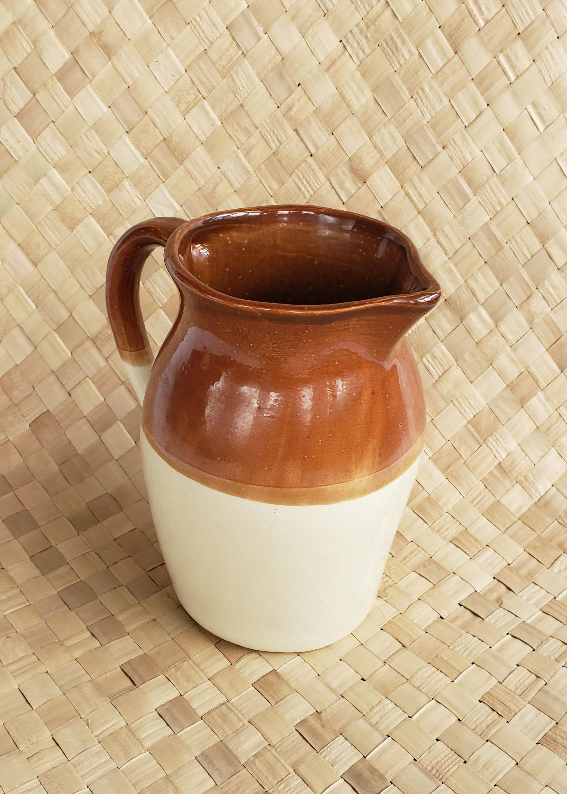 Vintage Small Crock Pitcher