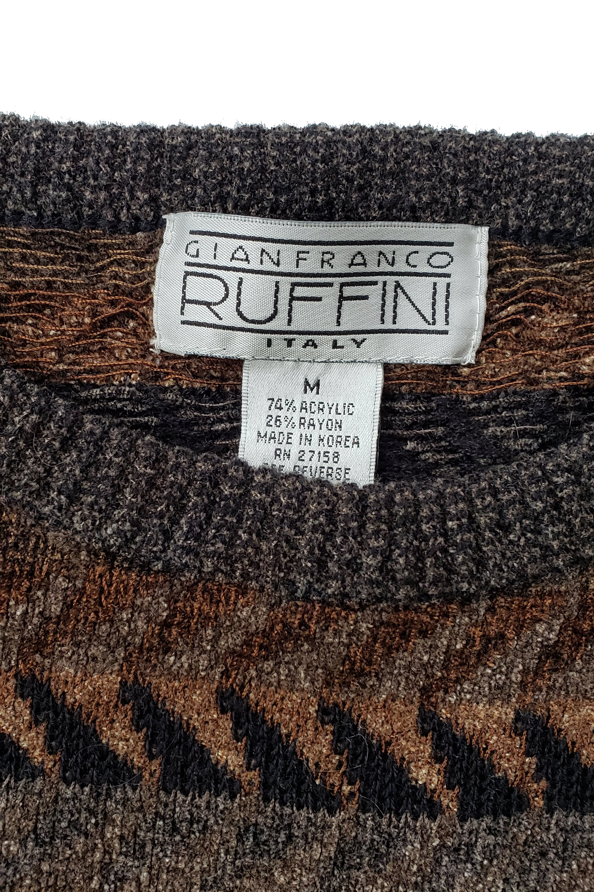 Men's Gianfranco Ruffini Velour Knit Sweater
