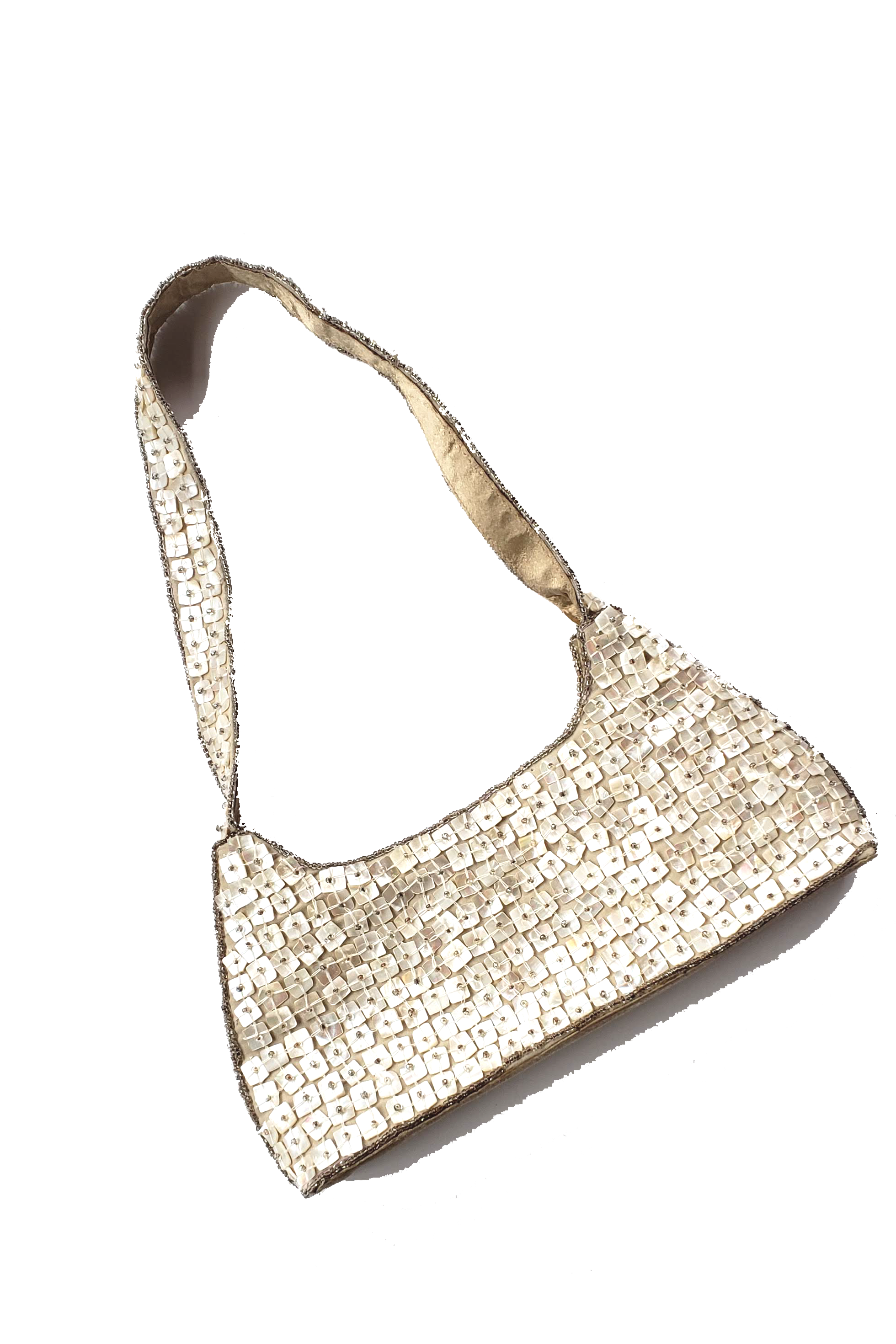 90s Retro Fully Beaded Baguette Style Bag