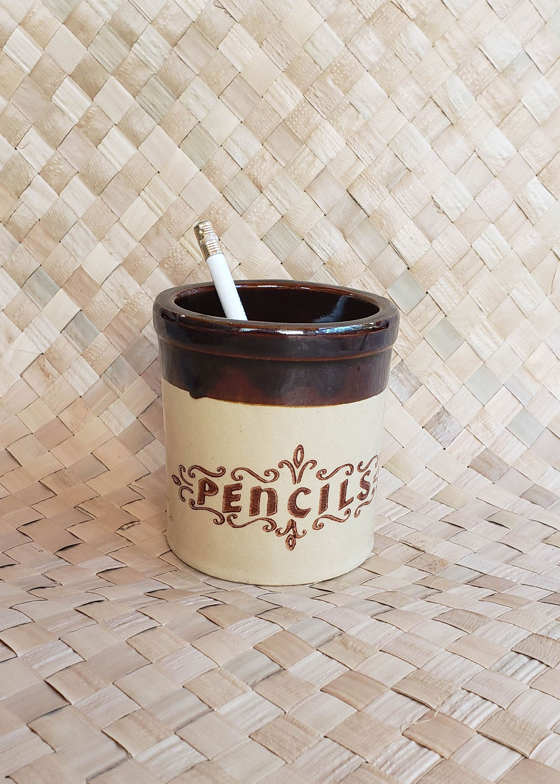 Vintage Small Pencil Crock