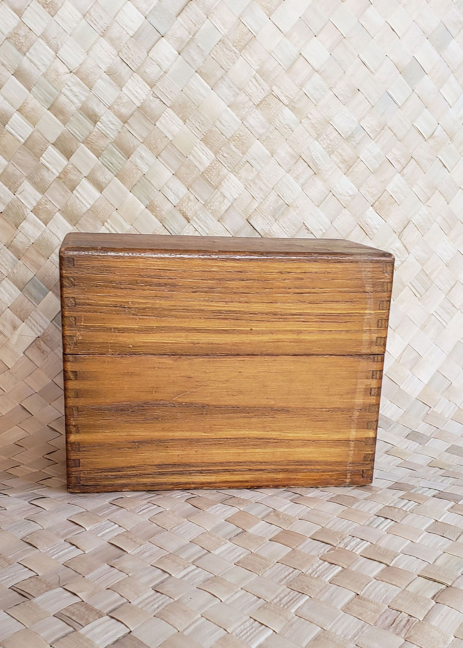 Vintage Wood Recipe Box
