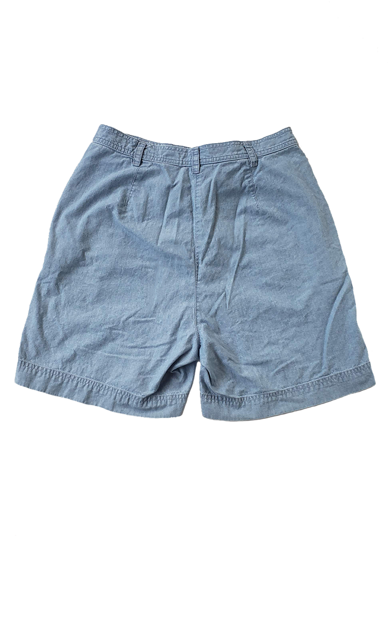 Vintage Liz Claiborne Chambray Walking Shorts