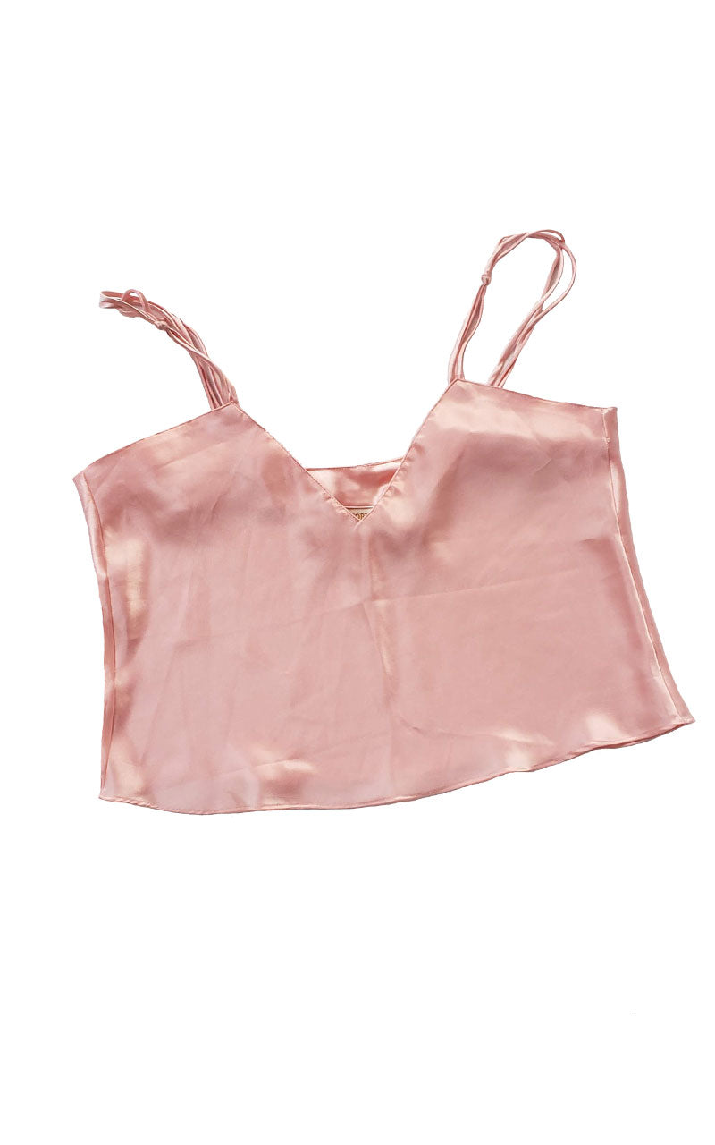 90s Victoria's Secret Cropped Camisole - Peachy Pink