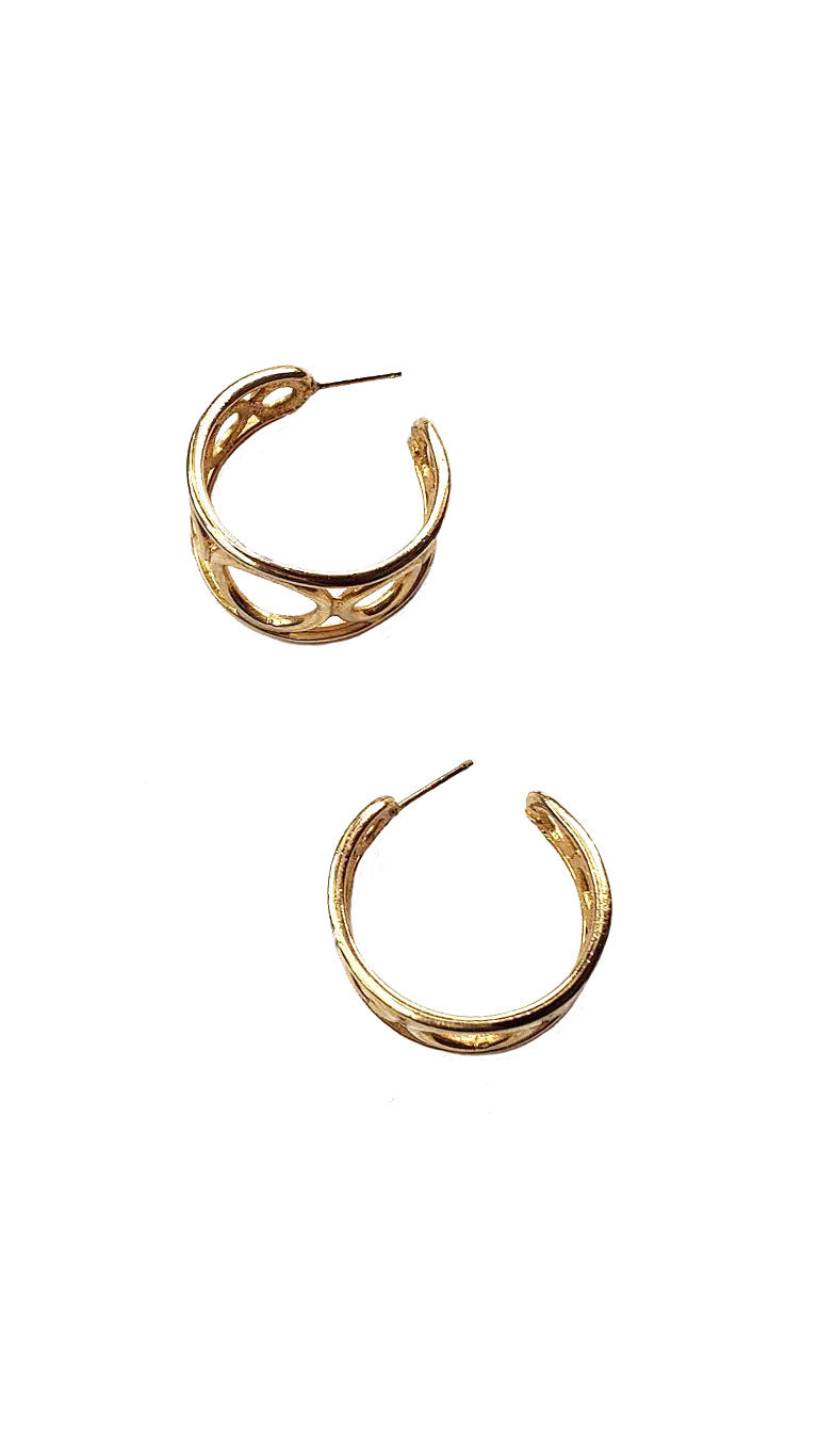 Vintage Geo Hoop Earrings
