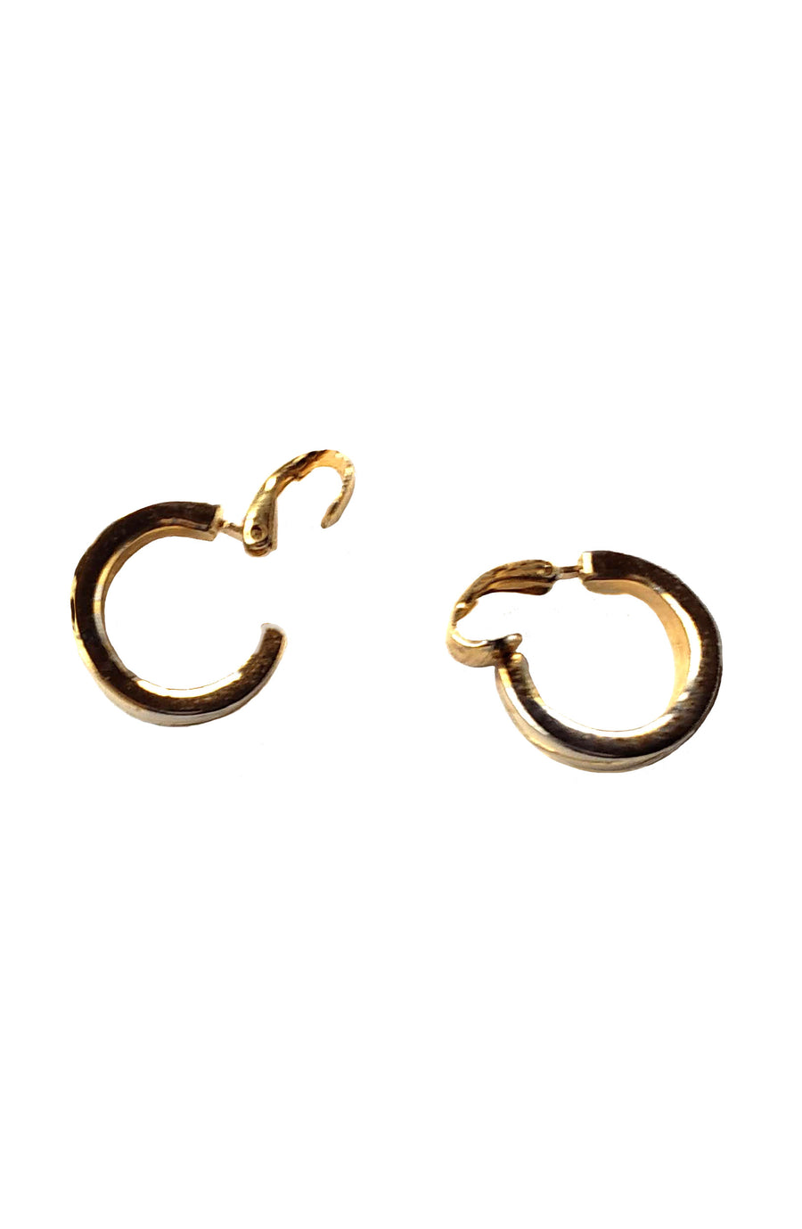 Vintage Cream/Gold Clip-On Mini Hoops
