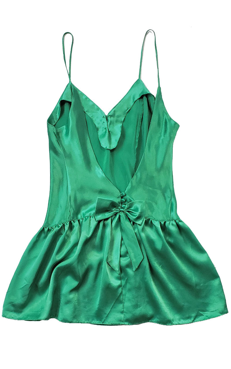 90s Victoria's Secret Satin Peplum Teddy (Green or Royal)