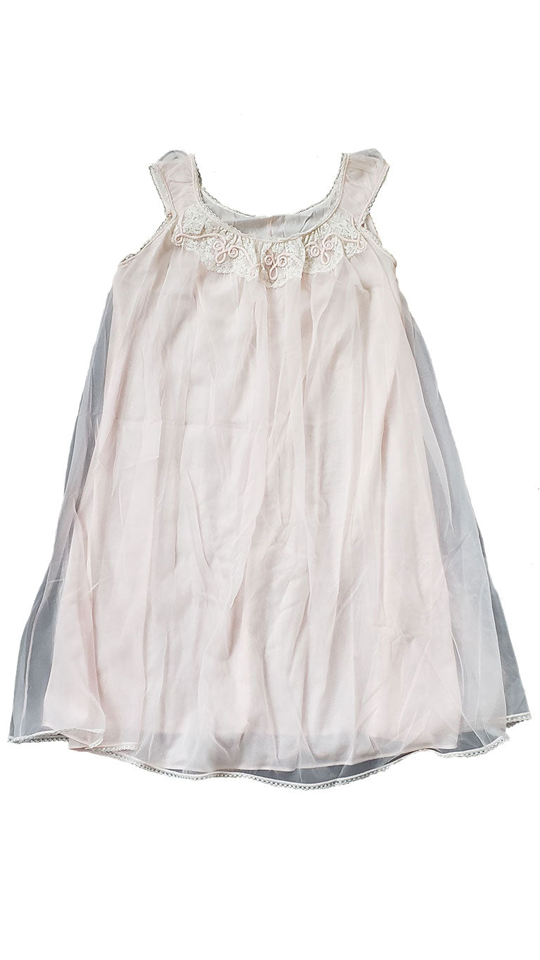 Vintage 1960s Pale Pink Mini Nightgown