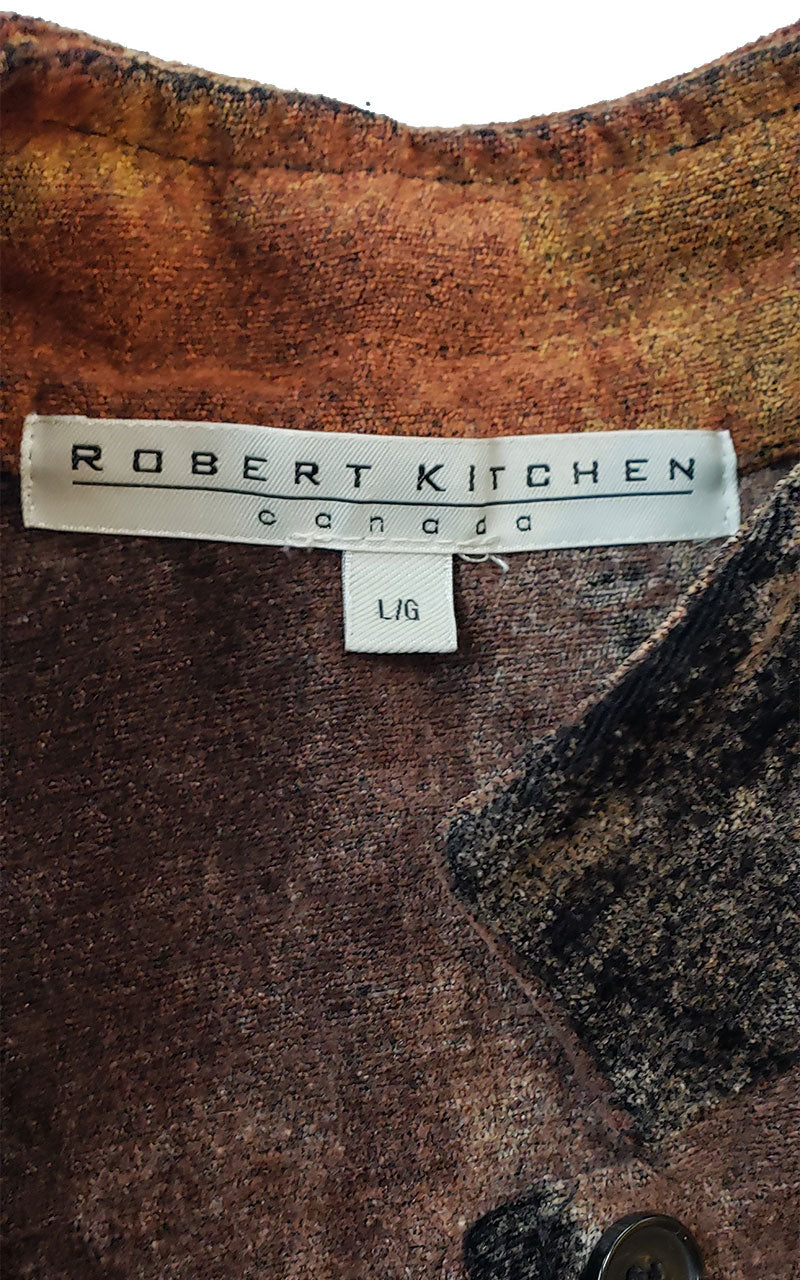 Robert Kitchens Brown & Tan UltraSuede Jacket