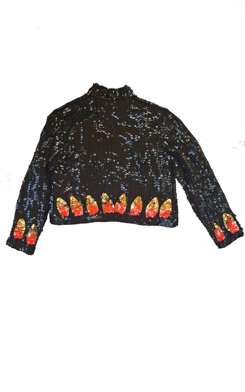 Vintage Girl's Sequined Jacket
