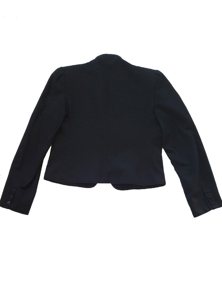 Vintage Wool Cropped Women's Blazer