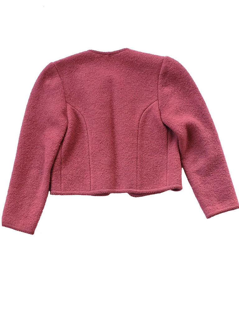 Rose Bouclé Wool Jacket