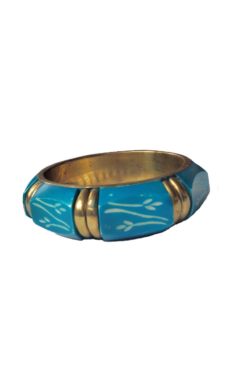 Etched Bangle Bracelet - Red or Teal