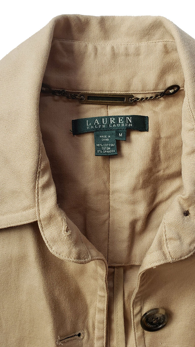 Ralph Lauren Tan Canvas Jacket