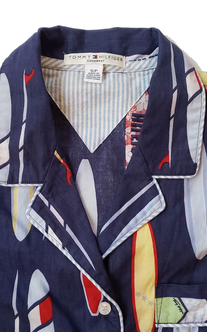 Rare Vintage Tommy Hilfiger Surf Print Shirt Dress
