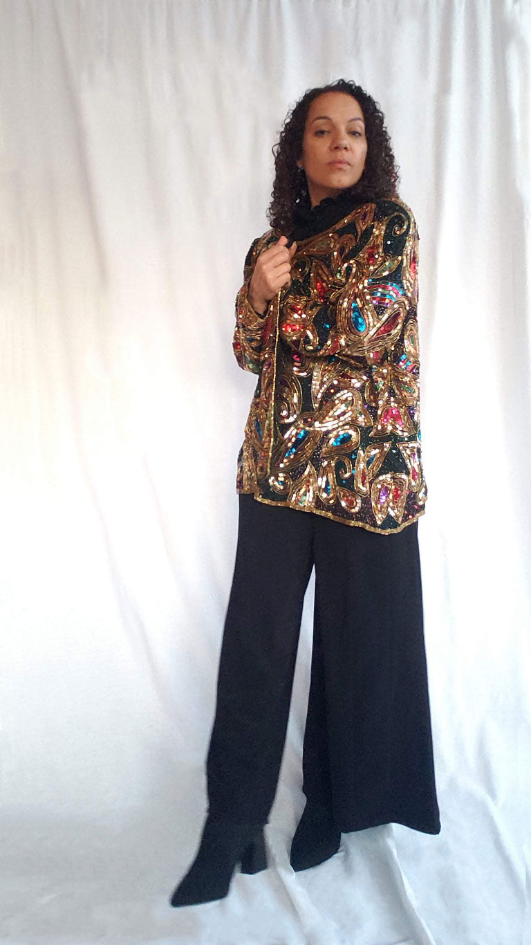 Vintage Laurence Kazar NY Sequined Jacket