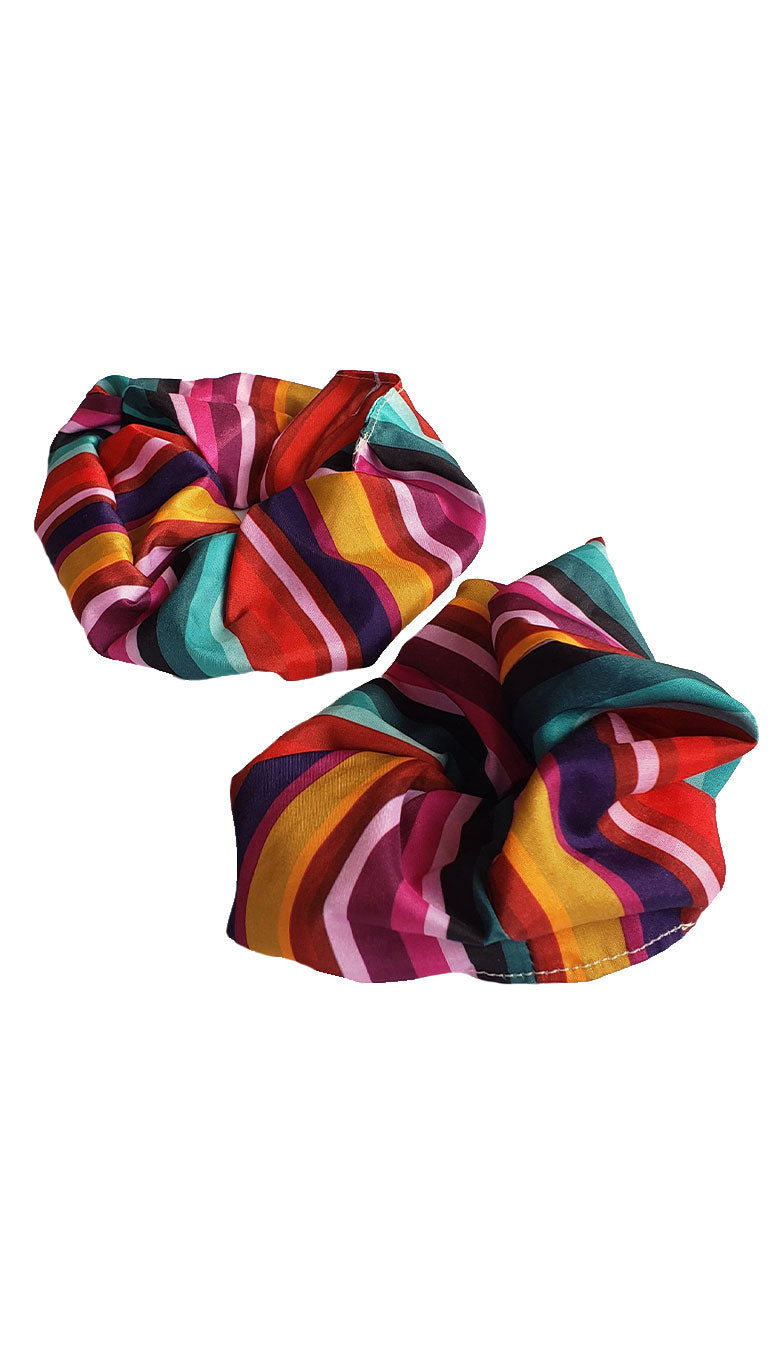 Sunny Side Stripe Scrap Scrunchies