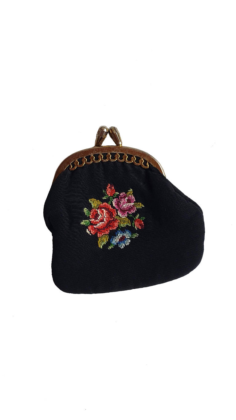 Vintage Embroidered Coin Purse