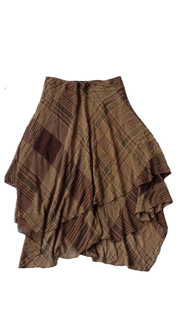 Ralph Lauren Plaid Tiered Skirt - Size 16
