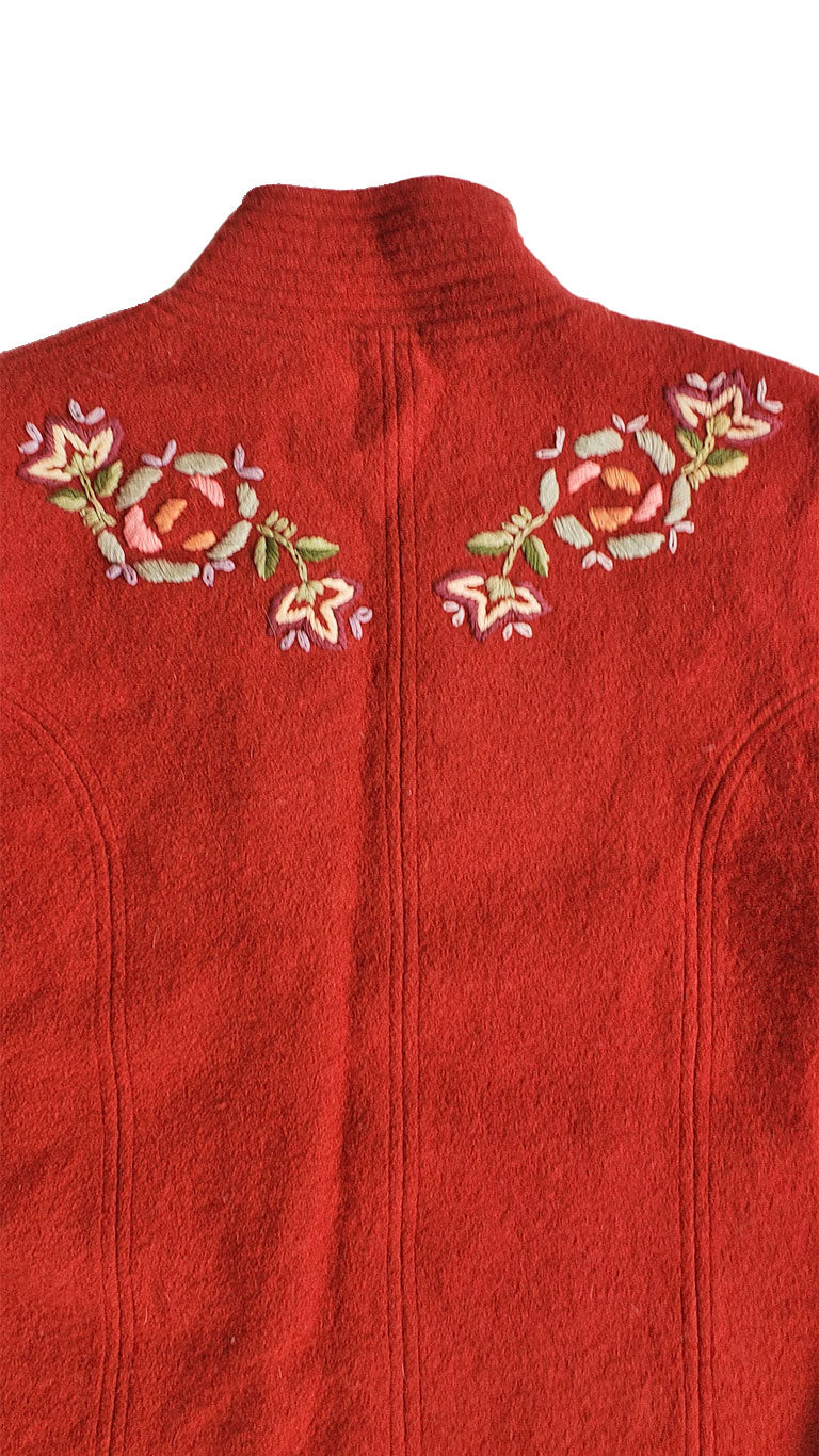 Vintage Fresh Groove Rust Embroidered Jacket