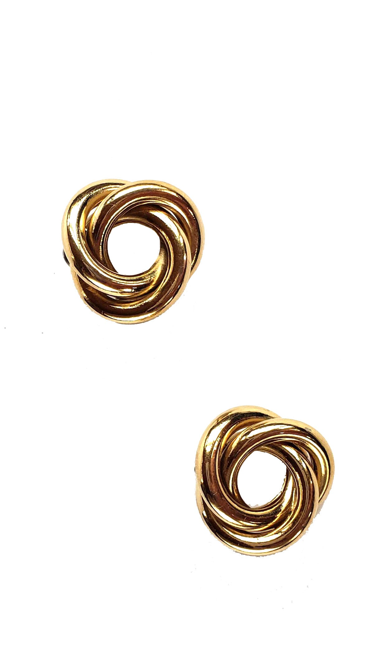 80s Classic Gold Knot Earrings