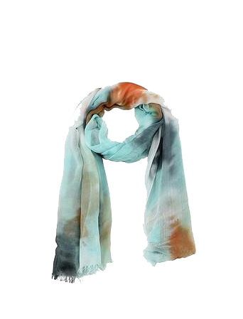 Abstract Silky Mint Dip-Dyed Scarf