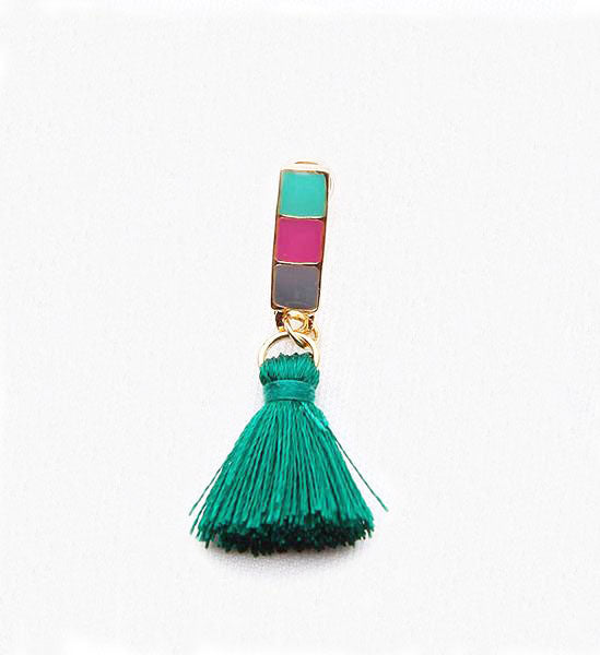 Atay Enamel & Tassel Earrings