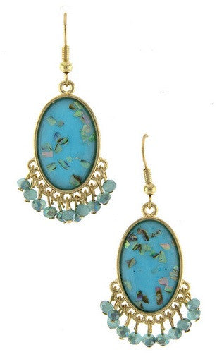 The Changling Blue Floral Earrings