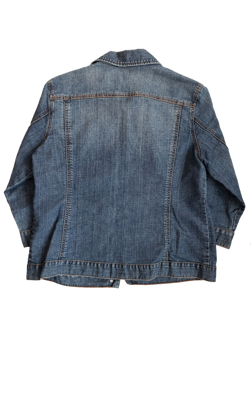 Chico's Platinum Denim Jacket