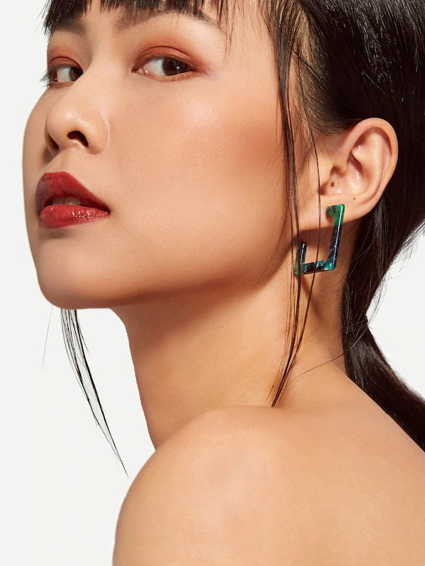 Splender Square Hoop Earrings