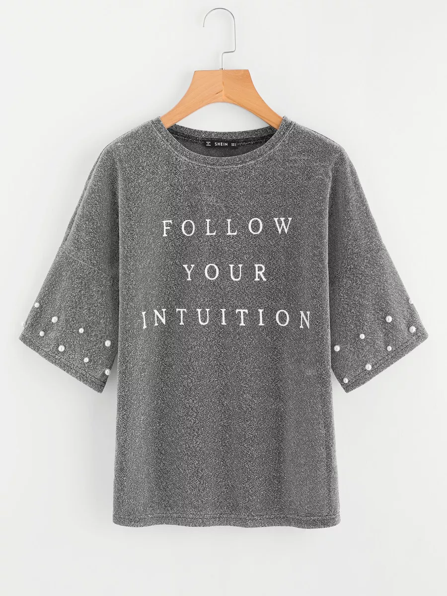Follow Your Intuition Sheer Metallic Tee