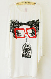 Funky Fro Girl 3/4 length Tee