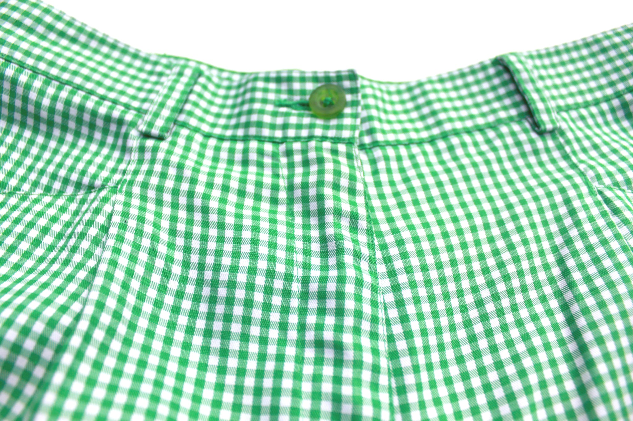 Vintage Liz Claiborne Green Gingham Walking Shorts (Only 1)