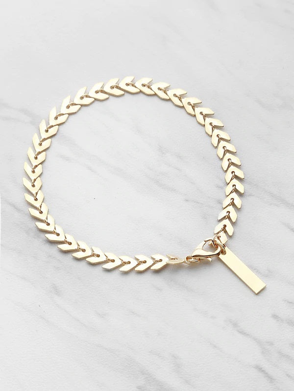 Scaling Great Heights Gold Bracelet
