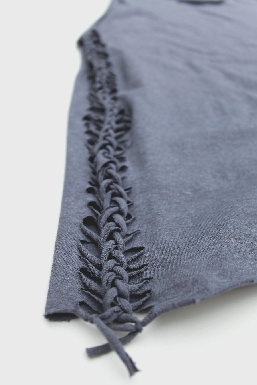 Granite Grey Slashed Tee (Only 1)
