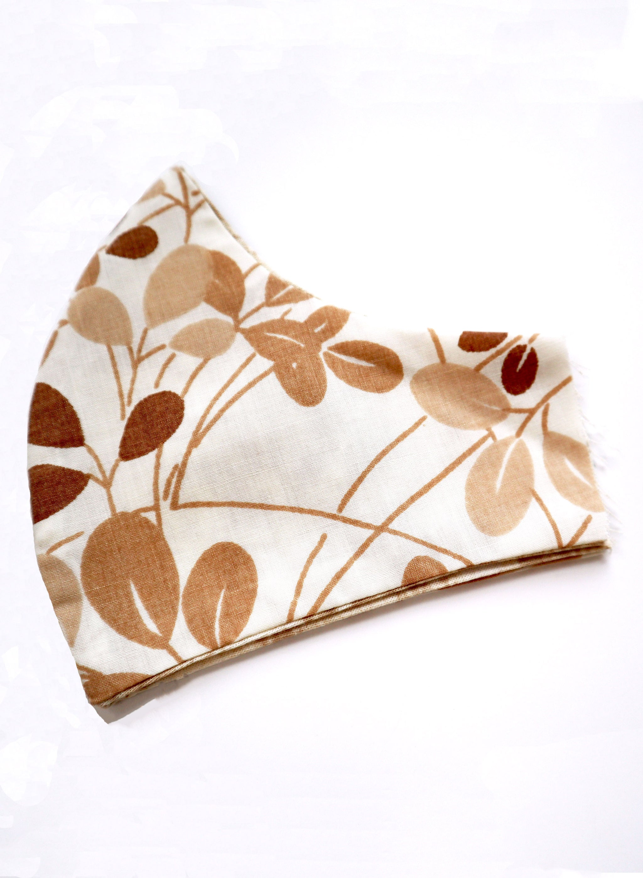 Reversible Natural Leaves 70s Bedding Fabric Mask