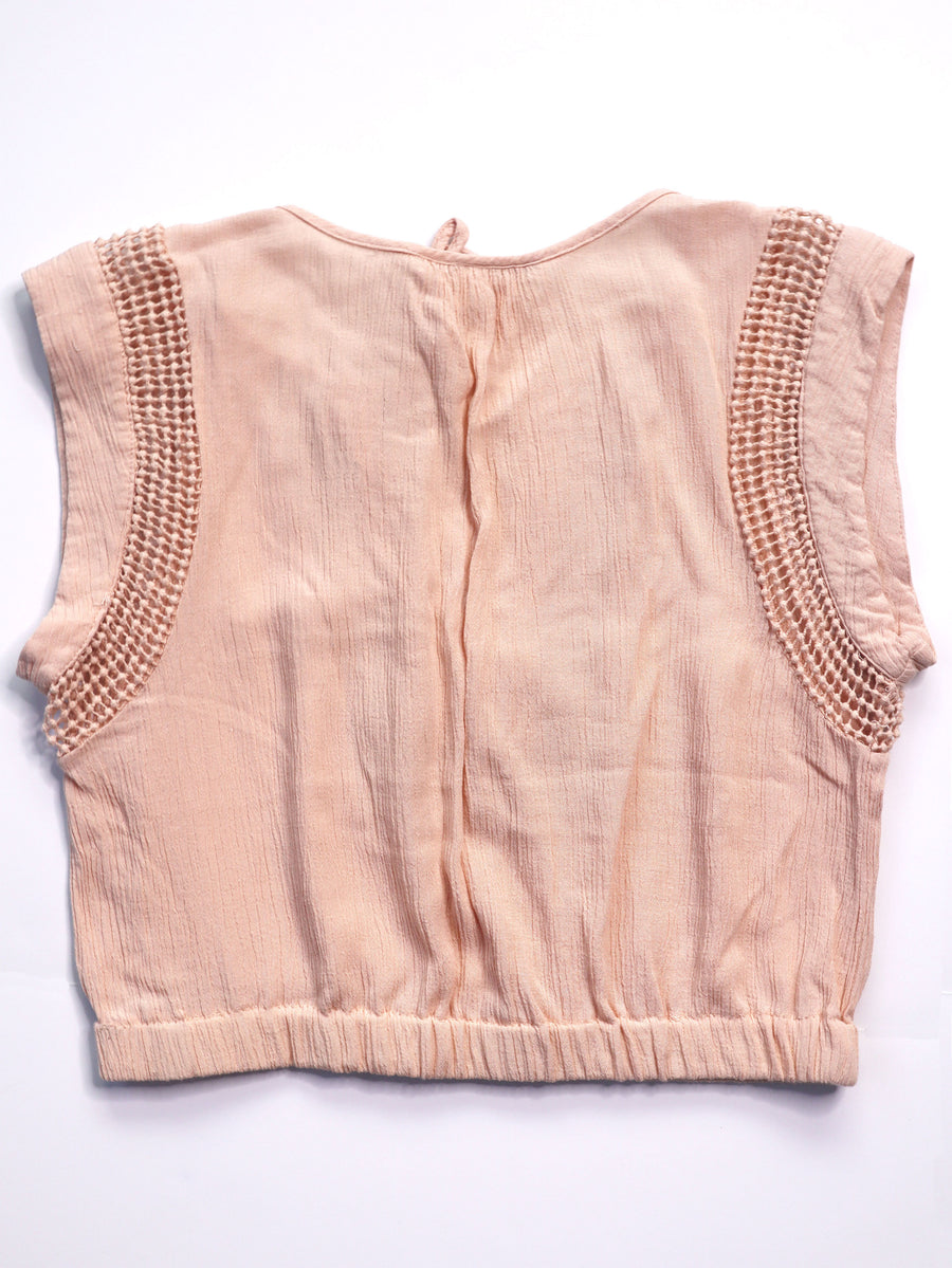 Cropped Daniel Rainn Gauzy Blouse