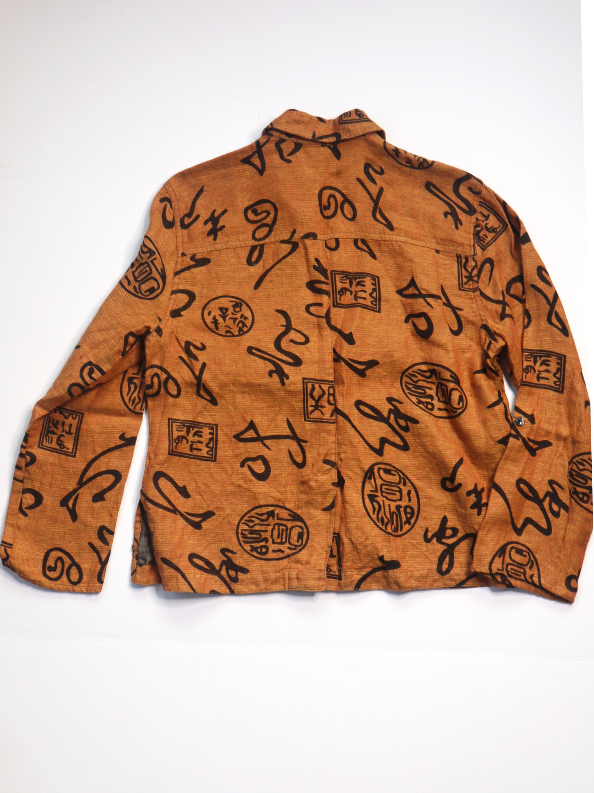 Vintage Chico's Design Rust & Black Print Shacket