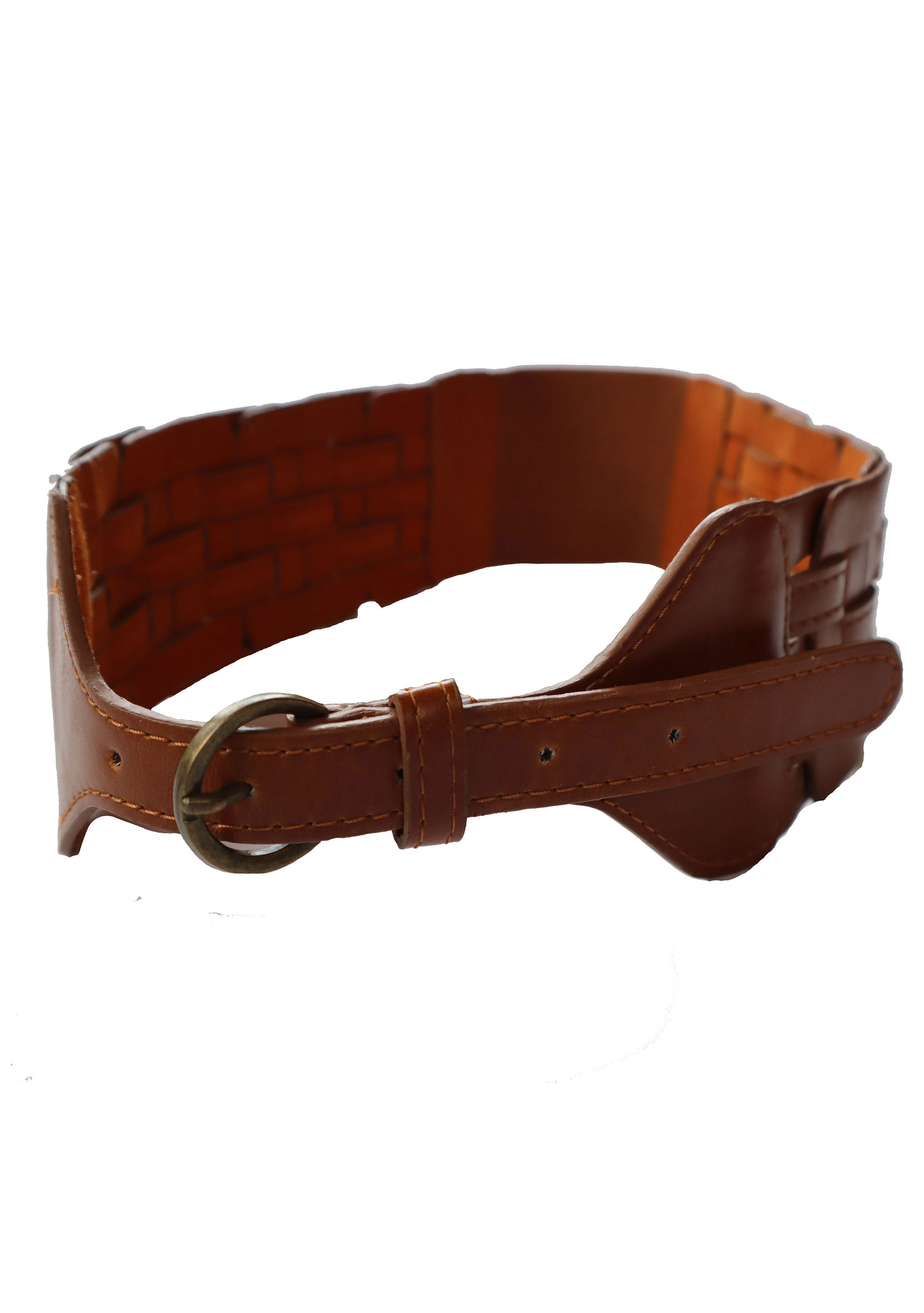 Vintage Leather Cinch Belt w/ Elastic