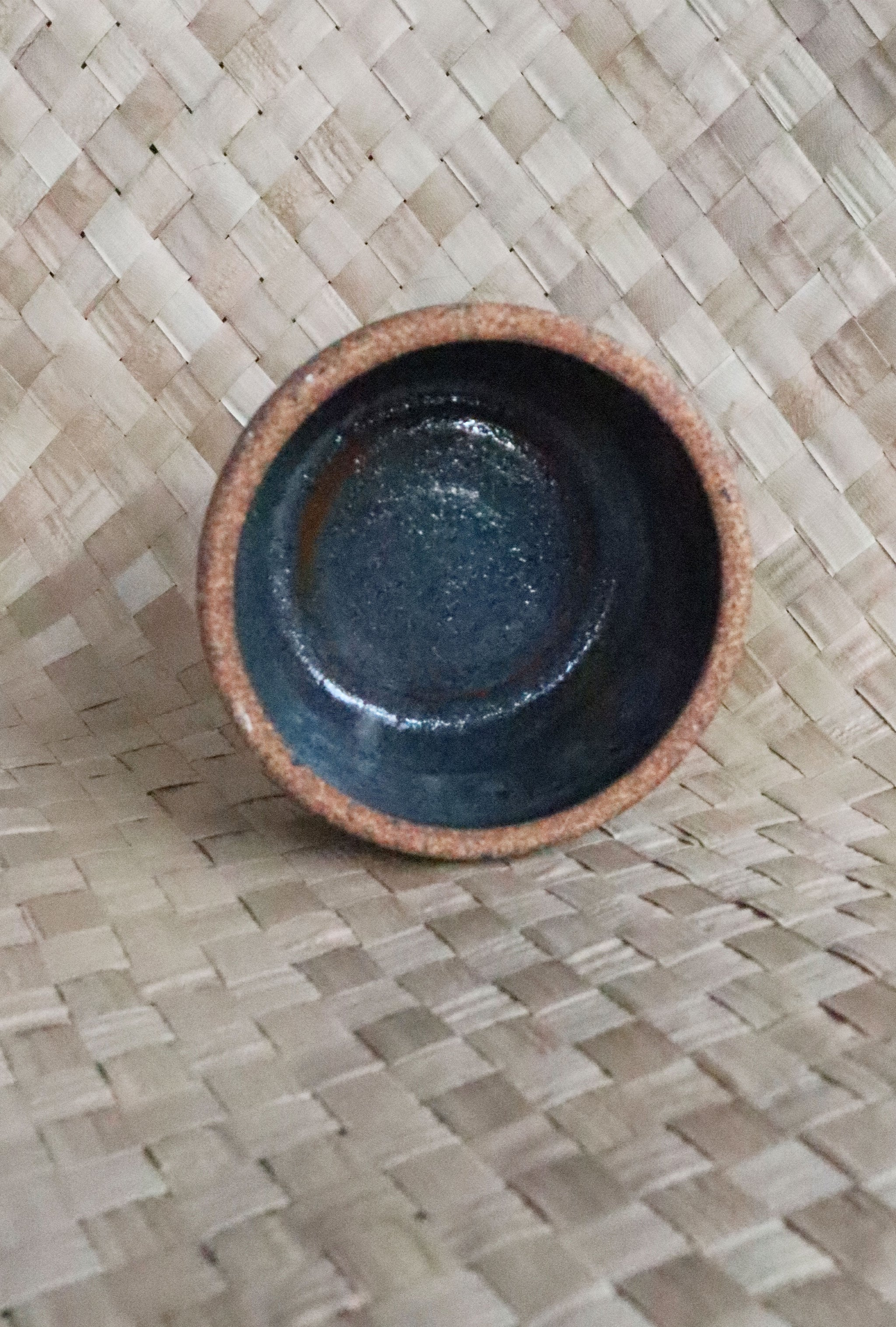 Vintage Rust/Blue Small Studio Pottery Bowl