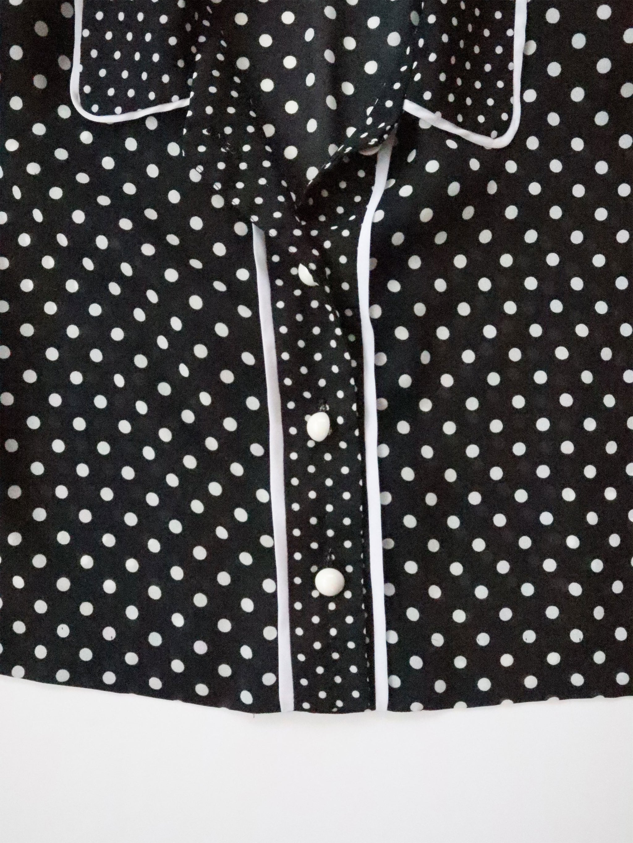 Vintage 90s Cropped Polka Dot Blouse