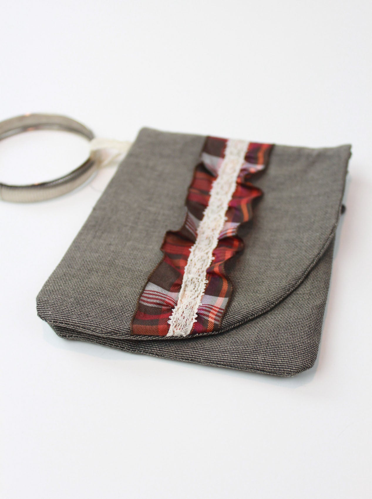 Dream Team Wristlet - antique plaid