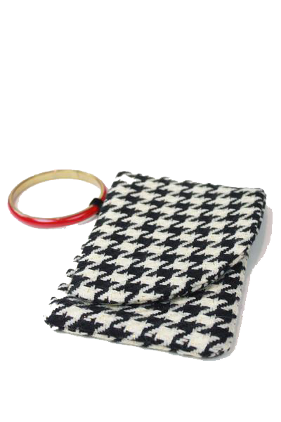 Dream Team Wristlet - black/cream houndstooth