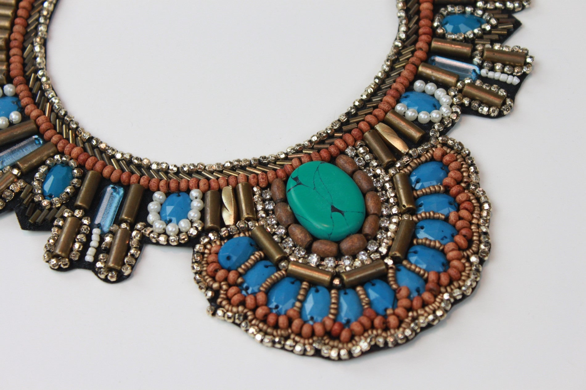 Hippie Shake Beaded Bib Necklace