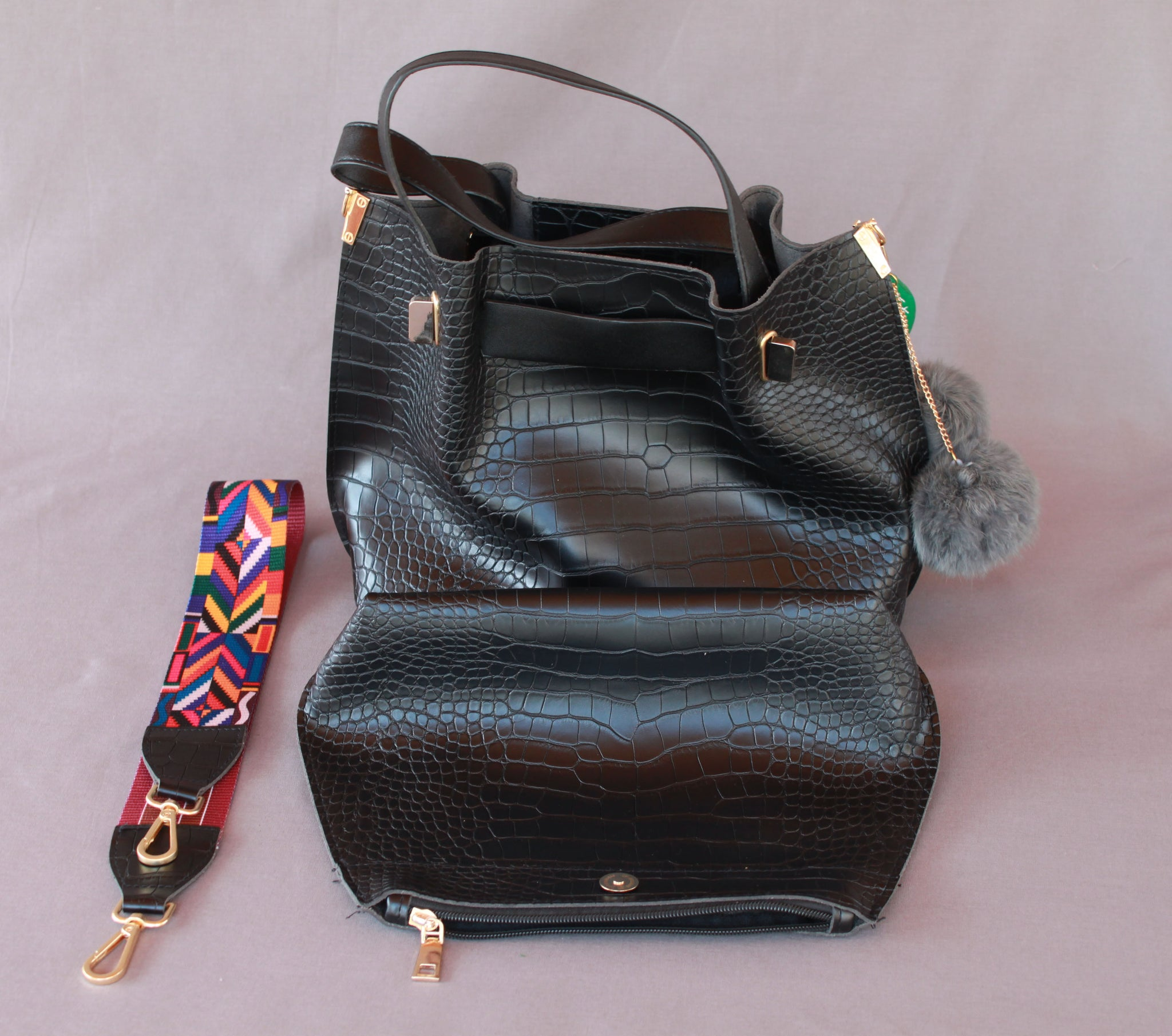 The Terayama Faux Snakeskin Bag