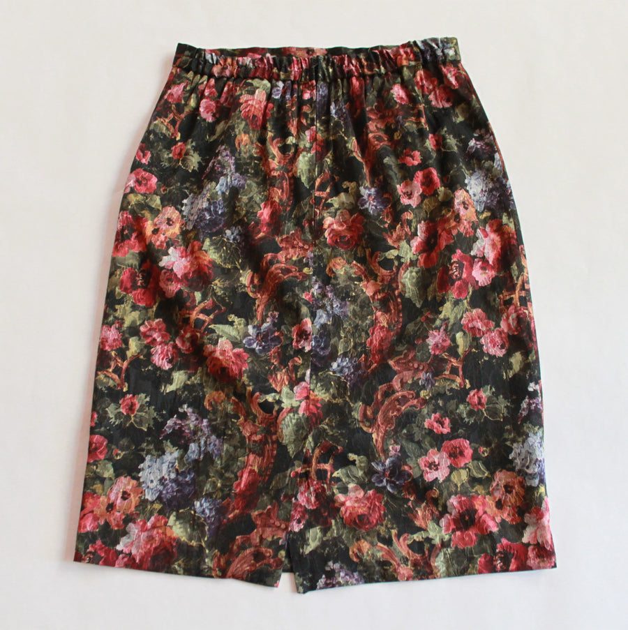 Vintage Floral Tapestry Pencil Skirt (Only 1)