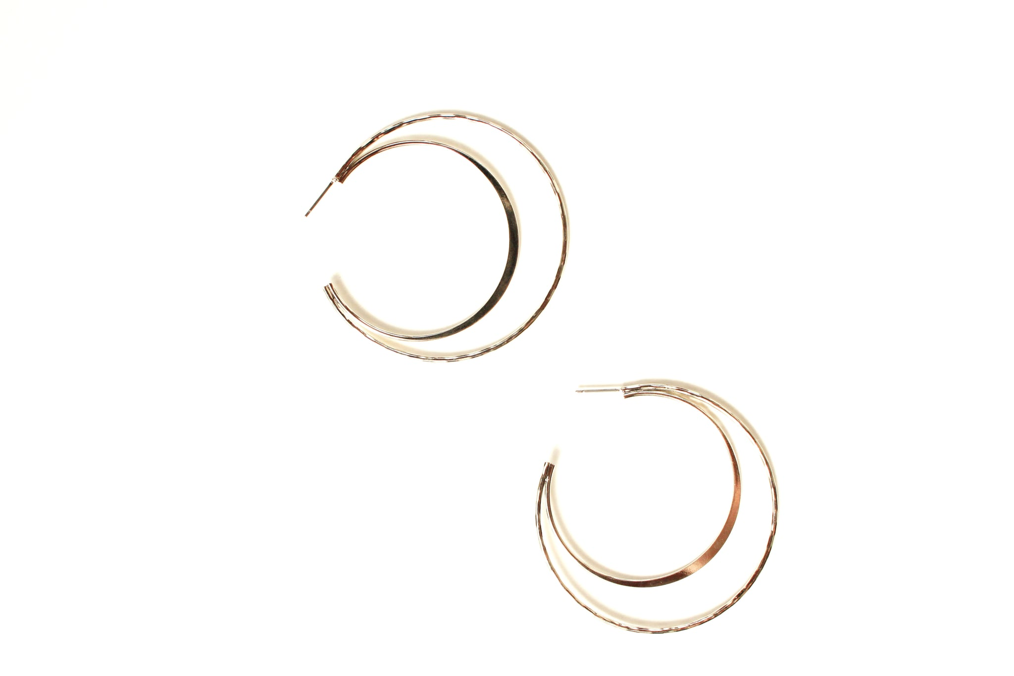 Crescent Open Hoop Earrings