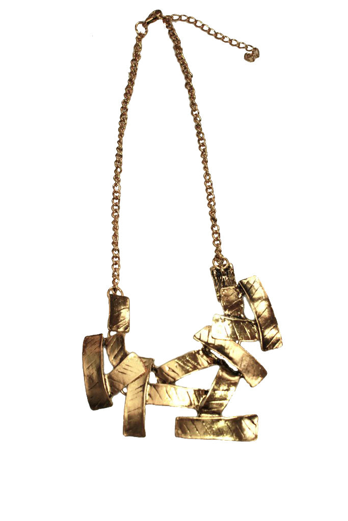 Pieces of Gold Statement Necklace
