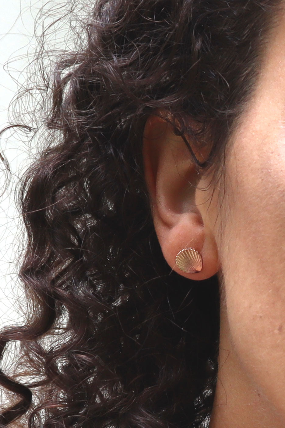 Vintage Gold Mini Shell Post Earrings