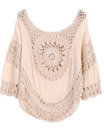Piece of My Heart Macrame Sweater (Only 1)